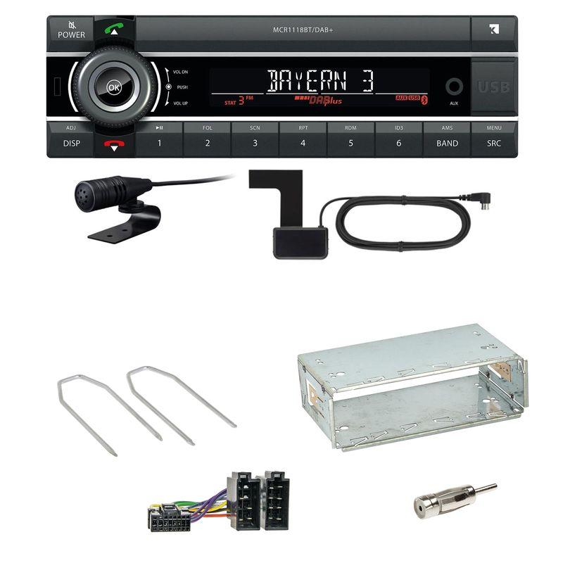 Kienzle MCR 1118 DAB Bluetooth Digitalradio MP3 Einbauset für Peugeot 206 206 CC