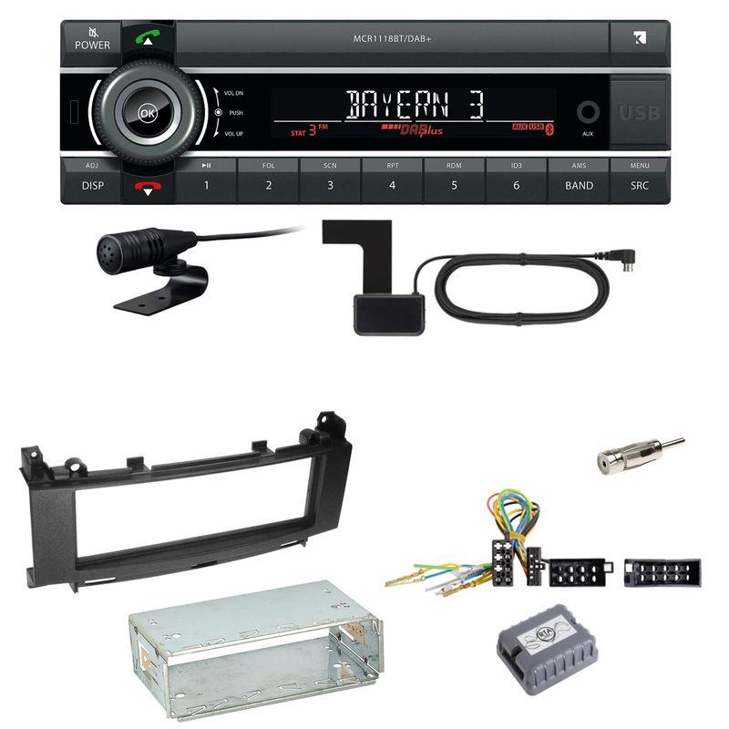 Kienzle MCR 1118 DAB Bluetooth DAB+ Einbauset für Mercedes A B Klasse W245 W169