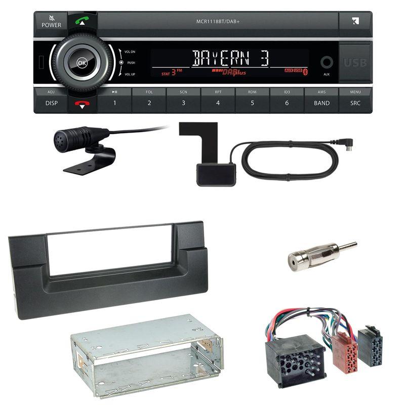 Kienzle MCR 1118 DAB Bluetooth Autoradio Einbauset für BMW 5er E39 bis 09/2000