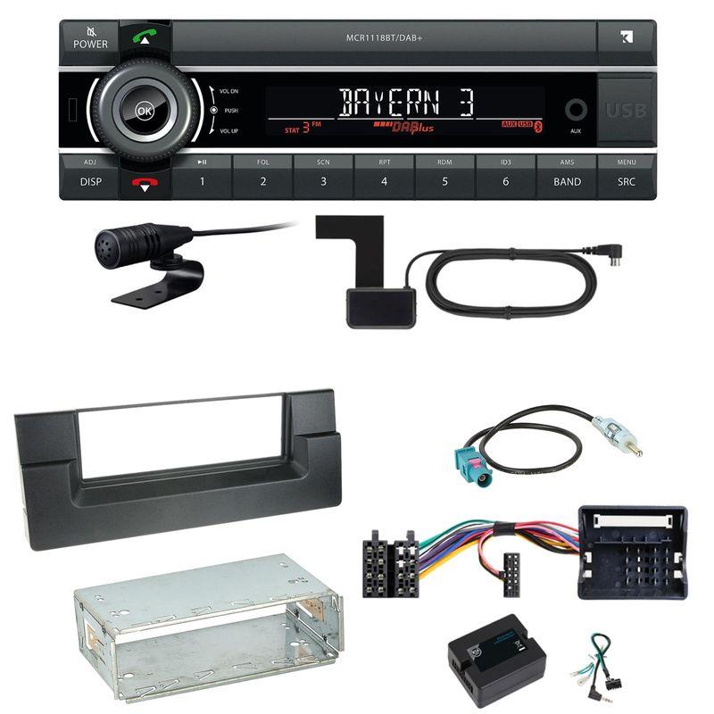 Kienzle MCR 1118 DAB Bluetooth Digitalradio Einbauset für BMW 5er E39 ab 10/2000