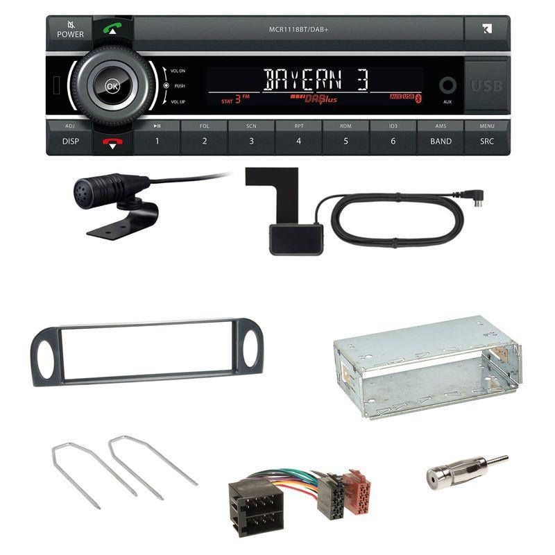 Kienzle MCR 1118 DAB Bluetooth Digitalradio Einbauset für Citroen C5 bis 07/2004
