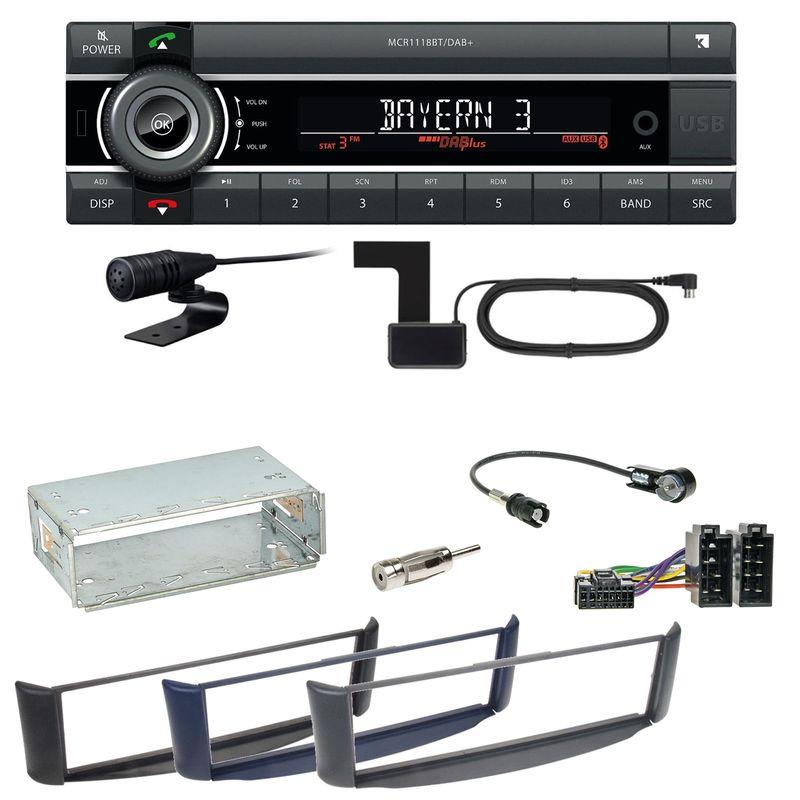 Kienzle MCR 1118 DAB Bluetooth Digitalradio Autoradio Einbauset Smart ForTwo 450