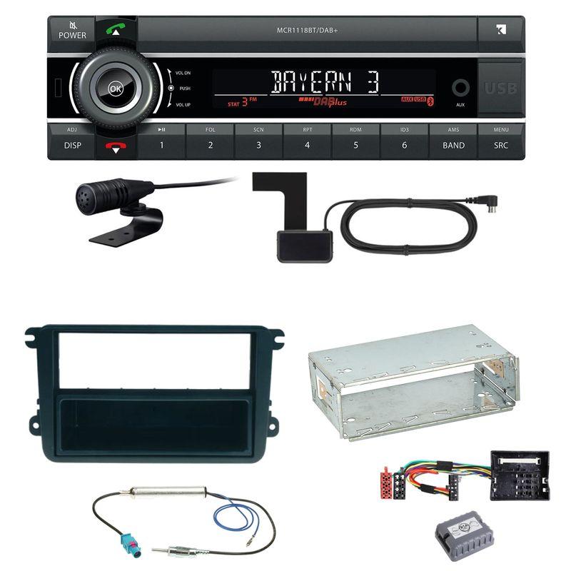 Kienzle MCR 1118 DAB Bluetooth DAB+ Einbauset für Skoda Fabia Roomster Praktik