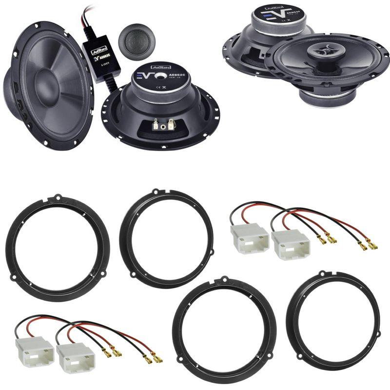 AXTON AE652C AE652F Lautsprecher Einbauset für Ford Fiesta JA8 Focus 3 DYB