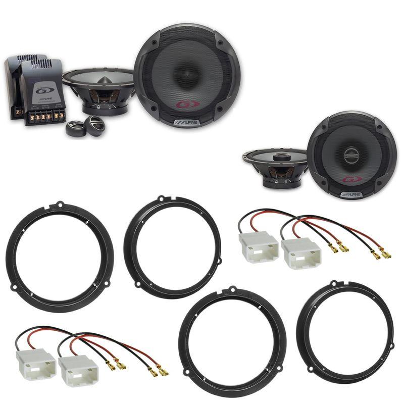 ALPINE SPG-17CS SPG-17C2 Lautsprecher Einbauset für Ford Fiesta JA8 Focus 3 DYB