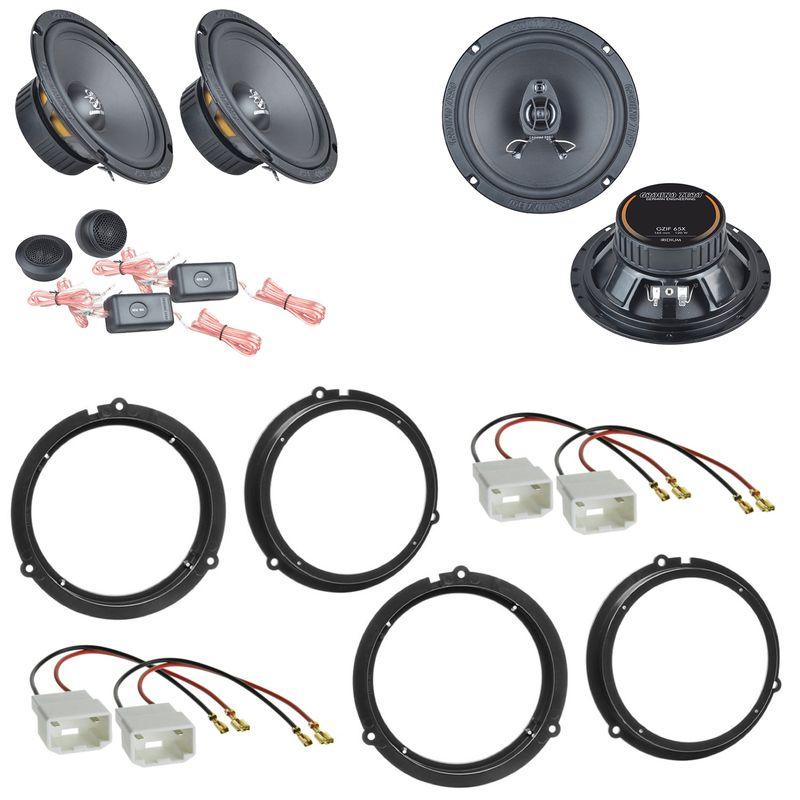 Ground Zero GZIC 16X GZIF 65X Lautsprecher Einbauset für Ford Fiesta JA8 Focus 3 DYB