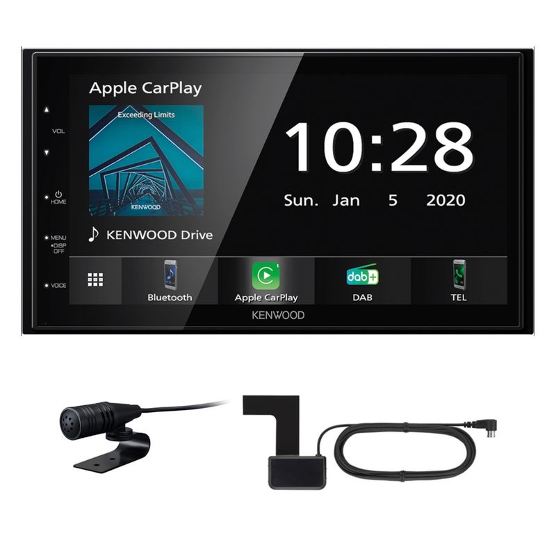 KENWOOD DMX-5020DABS CarPlay Android Auto Digitalradio Bluetooth inkl. Antenne