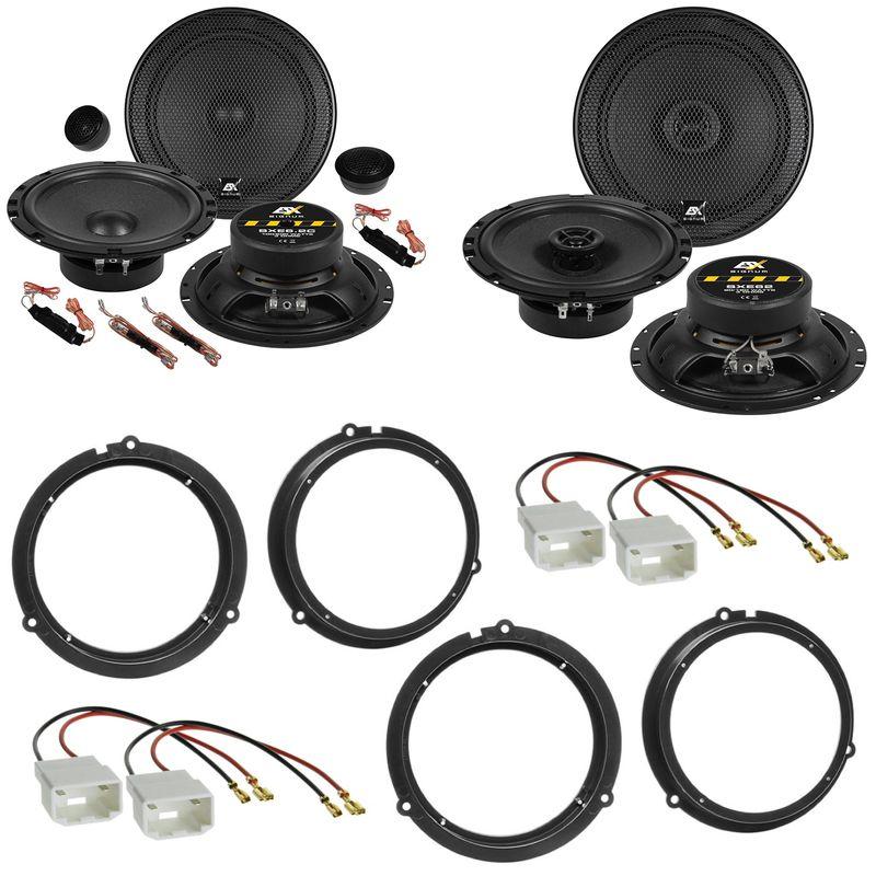ESX SIGNUM SXE-6.2C SXE-62 Lautsprecher Einbauset für Ford Fiesta JA8 Focus 3 DYB