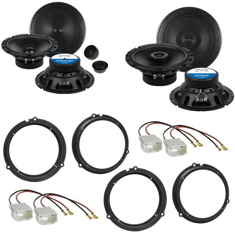 Crunch GTS-6.2C GTS-62 Lautsprecher Einbauset für Ford Fiesta JA8 Focus 3 DYB