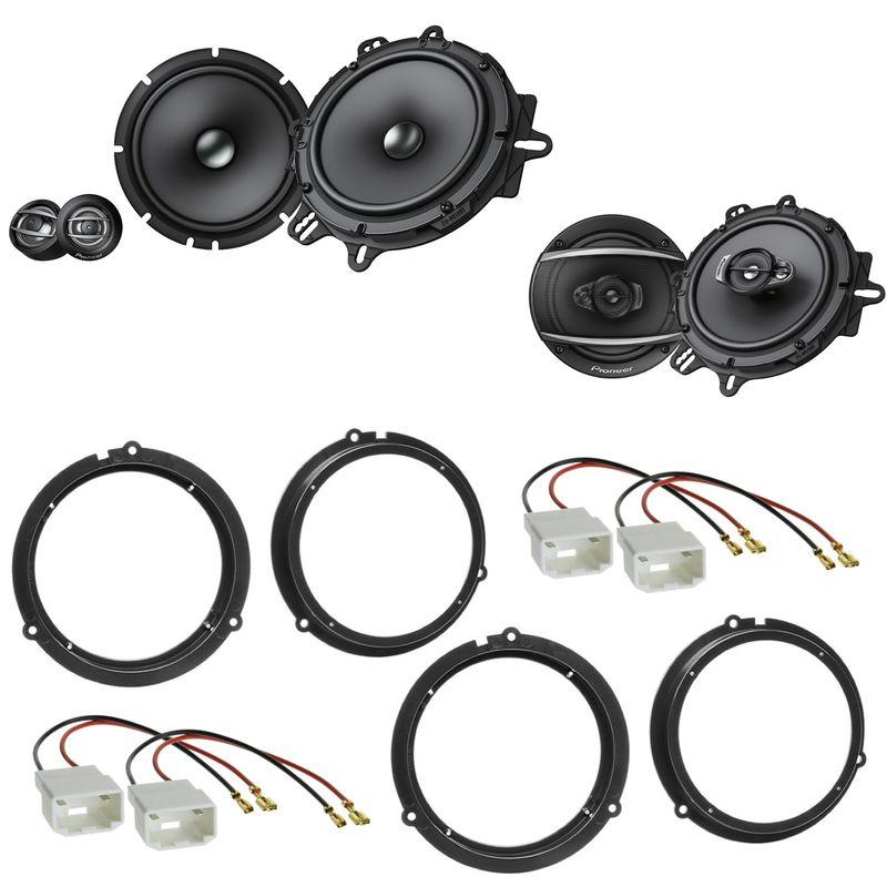 Pioneer TS-A1600C TS-A1670F Lautsprecher Einbauset für Ford Fiesta JA8 Focus 3 DYB