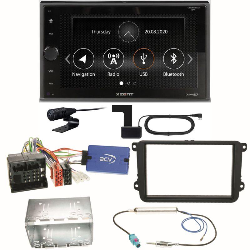 Xzent X-427 Digitalradio Bluetooth USB Einbauset für Beetle Jetta Sharan T5