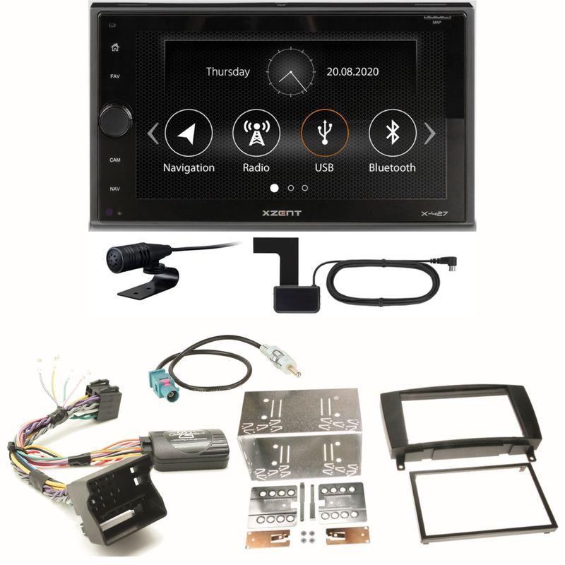 Xzent X-427 Digitalradio Bluetooth USB Einbauset für Mercedes CLK W209 Facelift