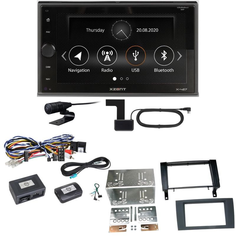 Xzent X-427 Digitalradio Bluetooth USB Einbauset für Mercedes SLK R171