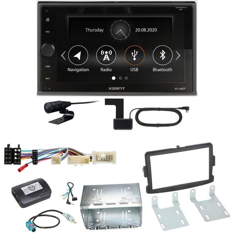 Xzent X-427 Digitalradio Bluetooth USB Einbauset für Dacia Dokker Sandero