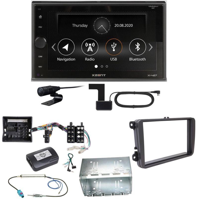 Xzent X-427 Digitalradio Bluetooth USB Einbauset für Tiguan Amarok Caddy Jetta