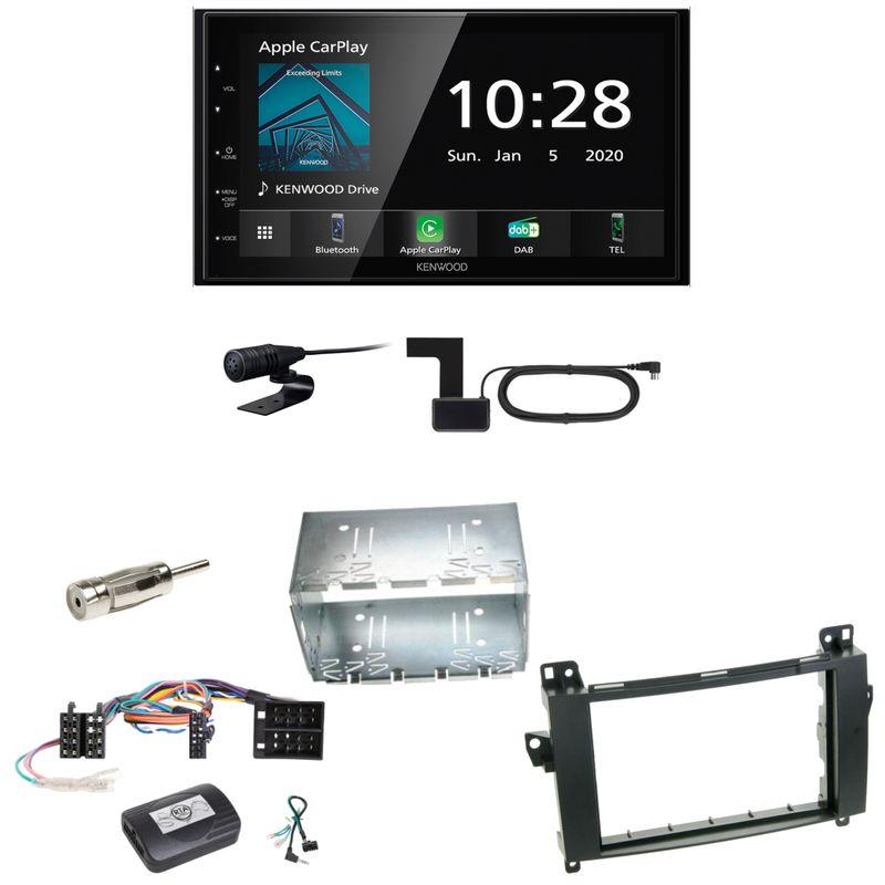 Kenwood DMX5020DABS Android Auto CarPlay Einbauset für Mercedes Vito Viano W639