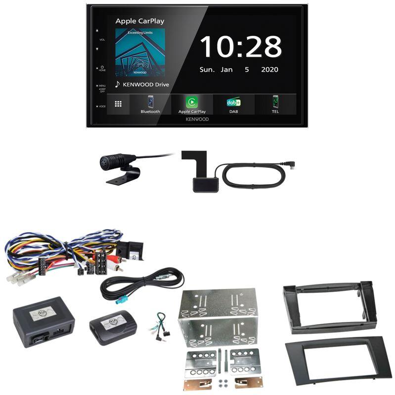 Kenwood DMX5020DABS Android Auto CarPlay Einbauset für Mercedes W211 CLS W219