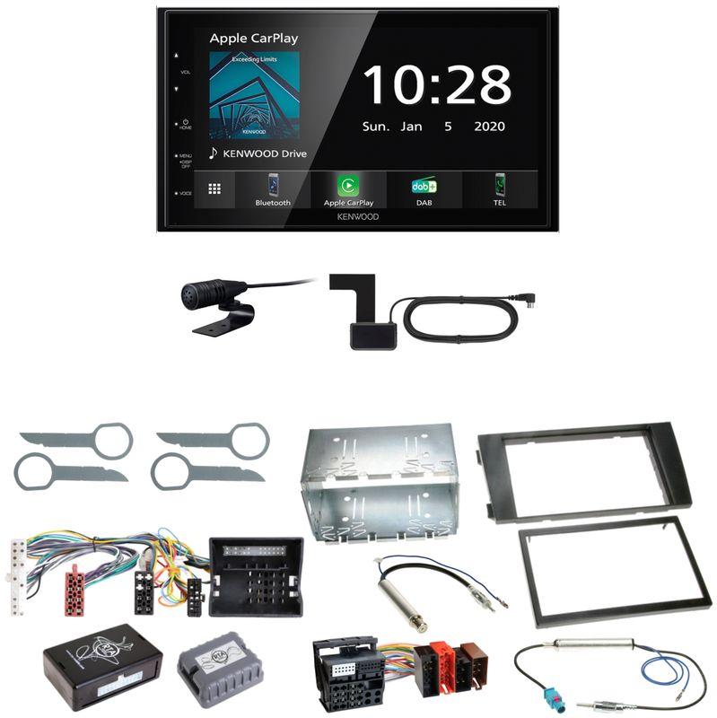 Kenwood DMX5020DABS Android Auto CarPlay Einbauset für Audi A6 4B Facelift