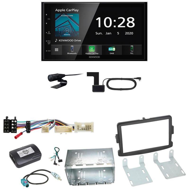 Kenwood DMX5020DABS Android Auto CarPlay Einbauset für Dacia Dokker Sandero