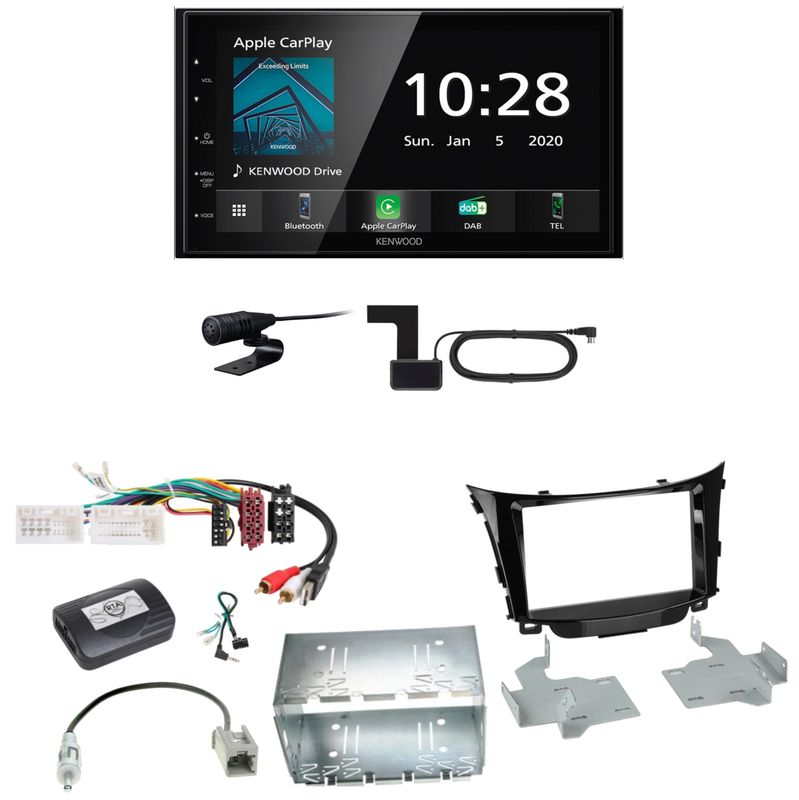 Kenwood DMX5020DABS Android Auto CarPlay Einbauset für Hyundai i30 GD GDH