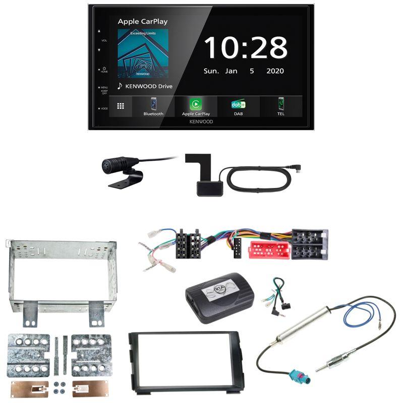 Kenwood DMX5020DABS Android Auto CarPlay Einbauset für Kia Cee'd ED