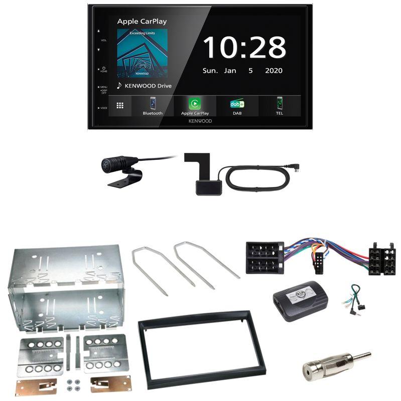 Kenwood DMX5020DABS Android Auto CarPlay Einbauset für Peugeot 307 Citroen C2 C3