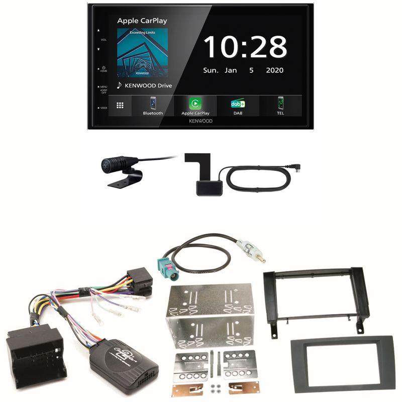 Kenwood DMX5020DABS Android Auto CarPlay Einbauset für Mercedes SLK R171 ab 2008