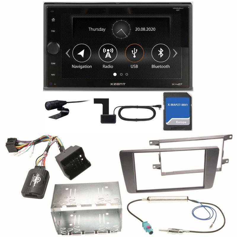 Xzent X-427 Navigation Digitalradio Einbauset für Skoda Octavia 2 Yeti 5L