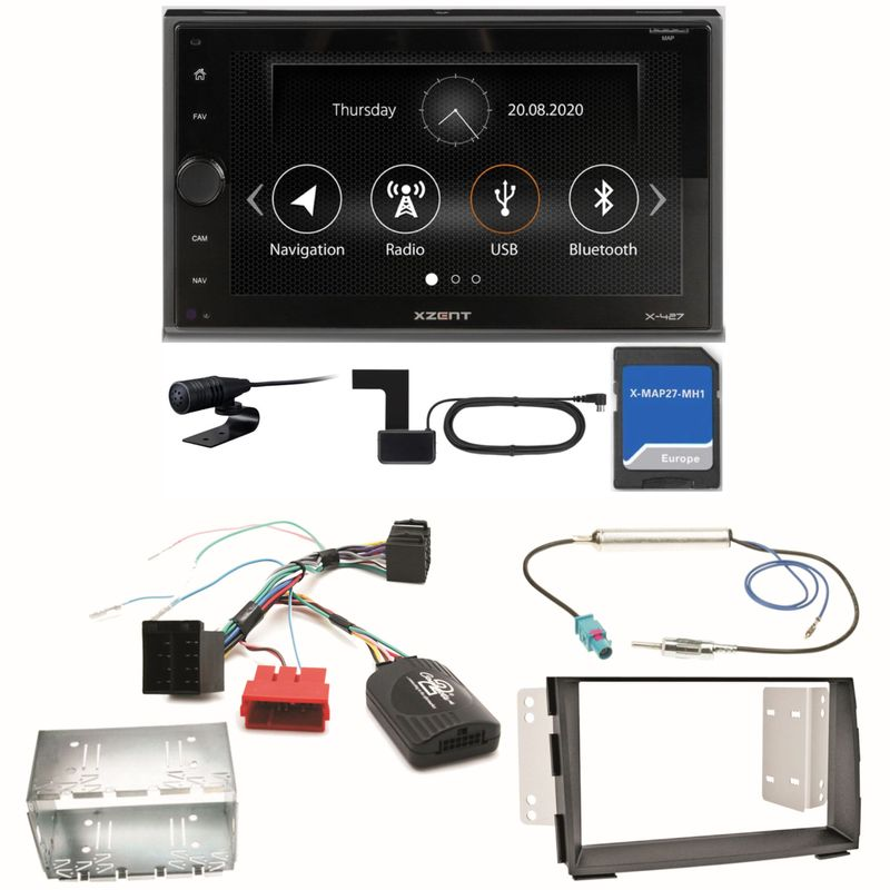 Xzent X-427 Navigation Digitalradio Bluetooth Einbauset für Kia Venga