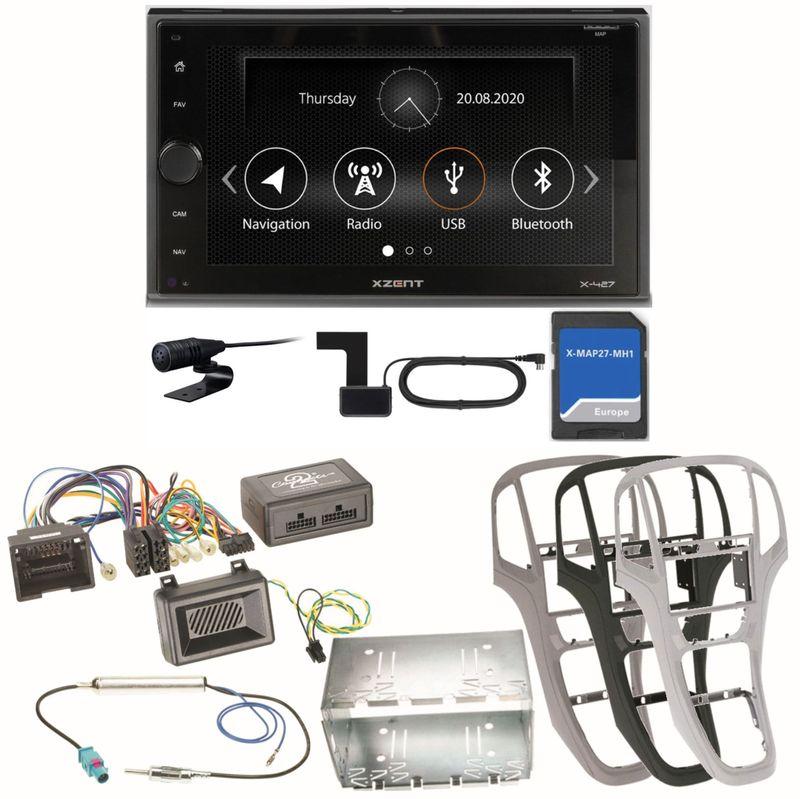 Xzent X-427 Navigation Digitalradio Bluetooth Einbauset für Opel Astra J