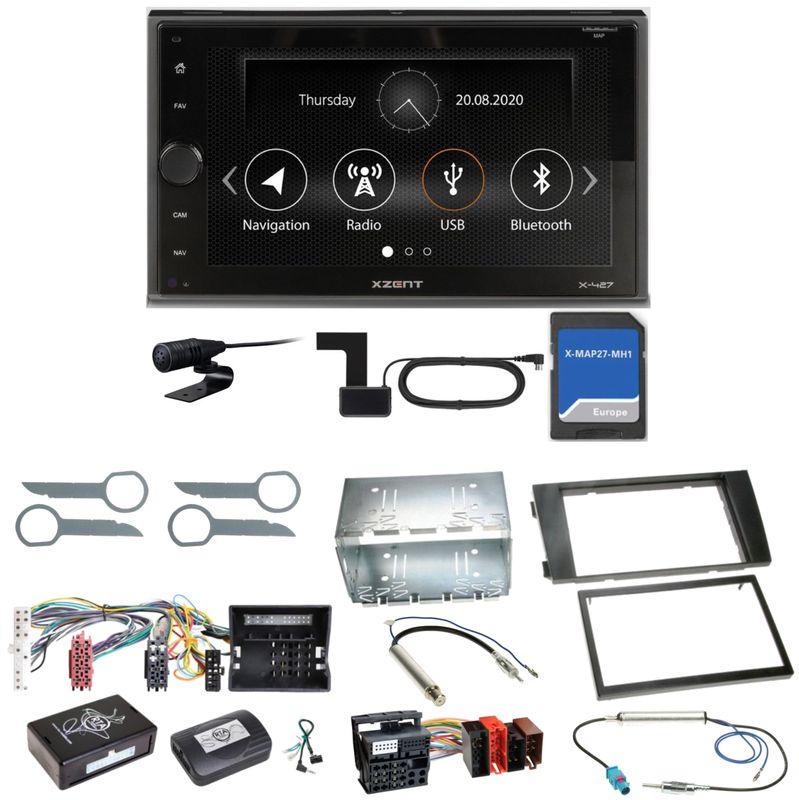 Xzent X-427 Navigation Digitalradio Bluetooth Einbauset für Audi A6 4B Facelift