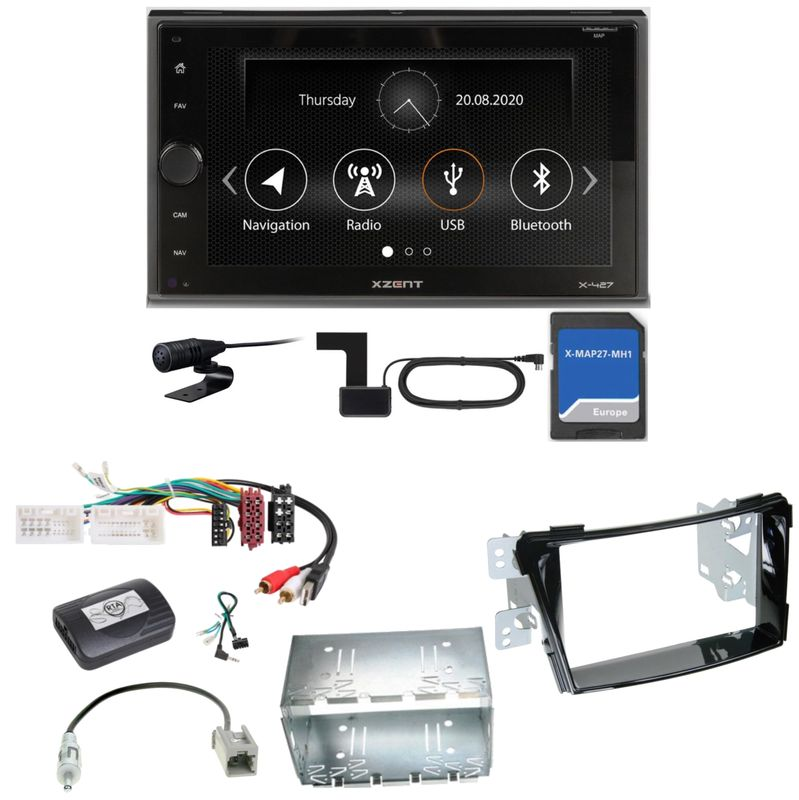 Xzent X-427 Navigation Digitalradio Bluetooth Einbauset für Hyundai i40 VF
