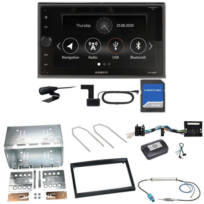 Xzent X-427 Navigation Digitalradio Einbauset für Peugeot 207 307 Partner Expert