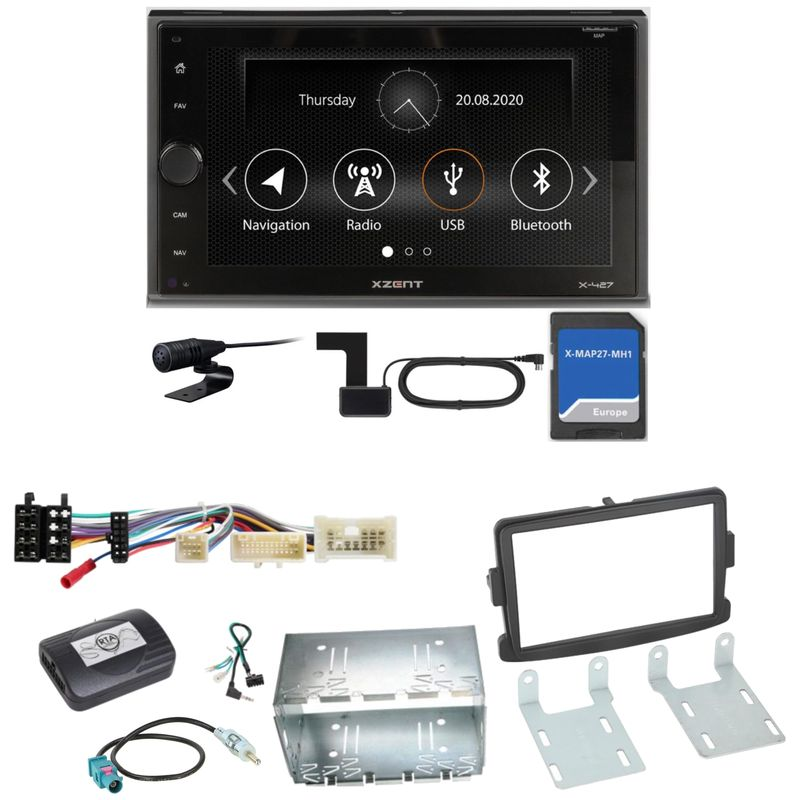 Xzent X-427 Navigation Digitalradio Einbauset für Dacia Duster Lodgy Logan
