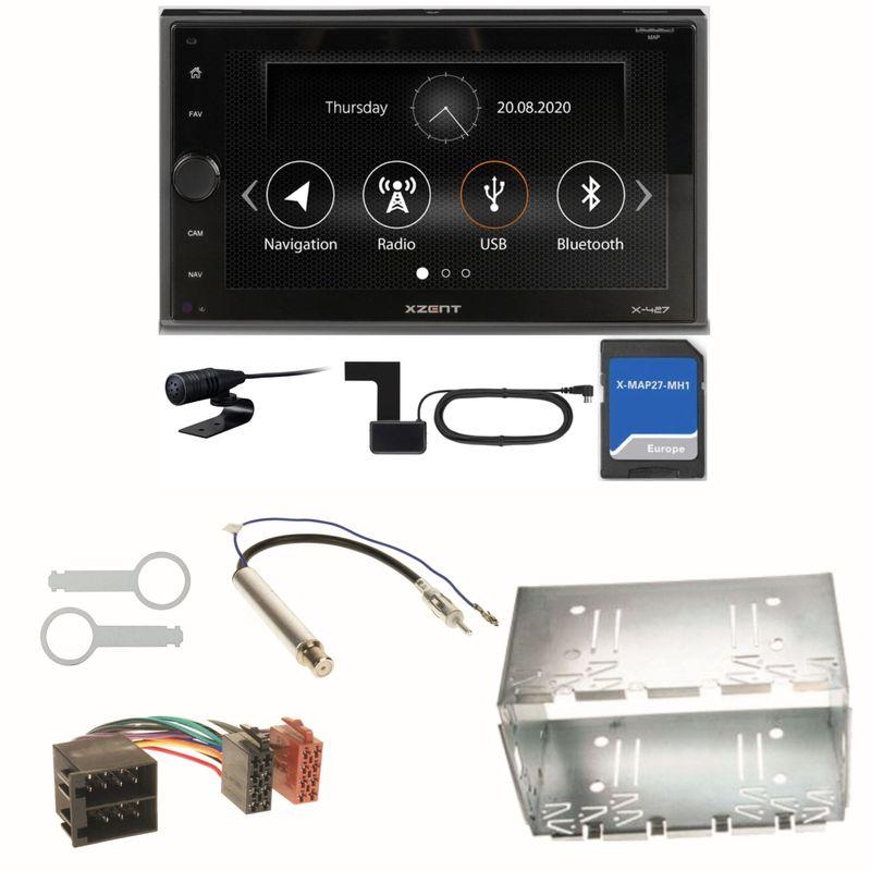 Xzent X-427 Navigation Digitalradio Einbauset für Polo 6N2 9N Bora Ibiza 6L