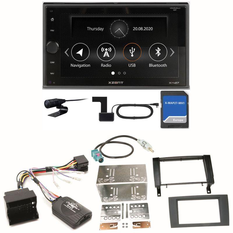 Xzent X-427 Navigation Digitalradio Einbauset für Mercedes SLK R171 ab 2008