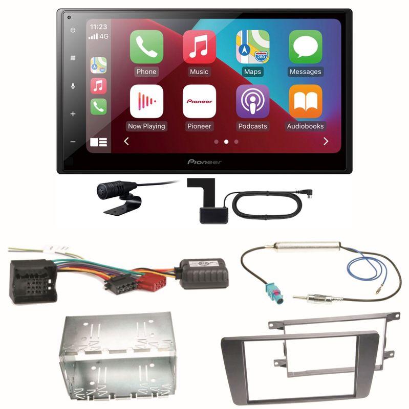 Pioneer SPH-DA160DAB Android Auto CarPlay Einbauset für Skoda Octavia 2 Yeti 5L