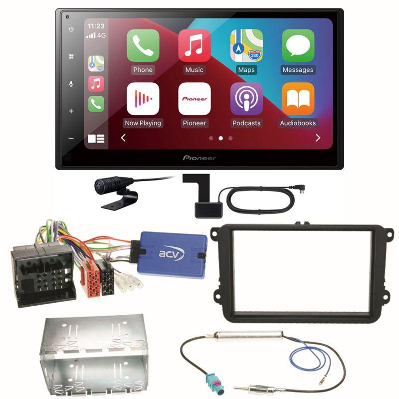 Pioneer SPH-DA160DAB Android Auto Einbauset für EOS Polo Caddy Amarok Scirocco