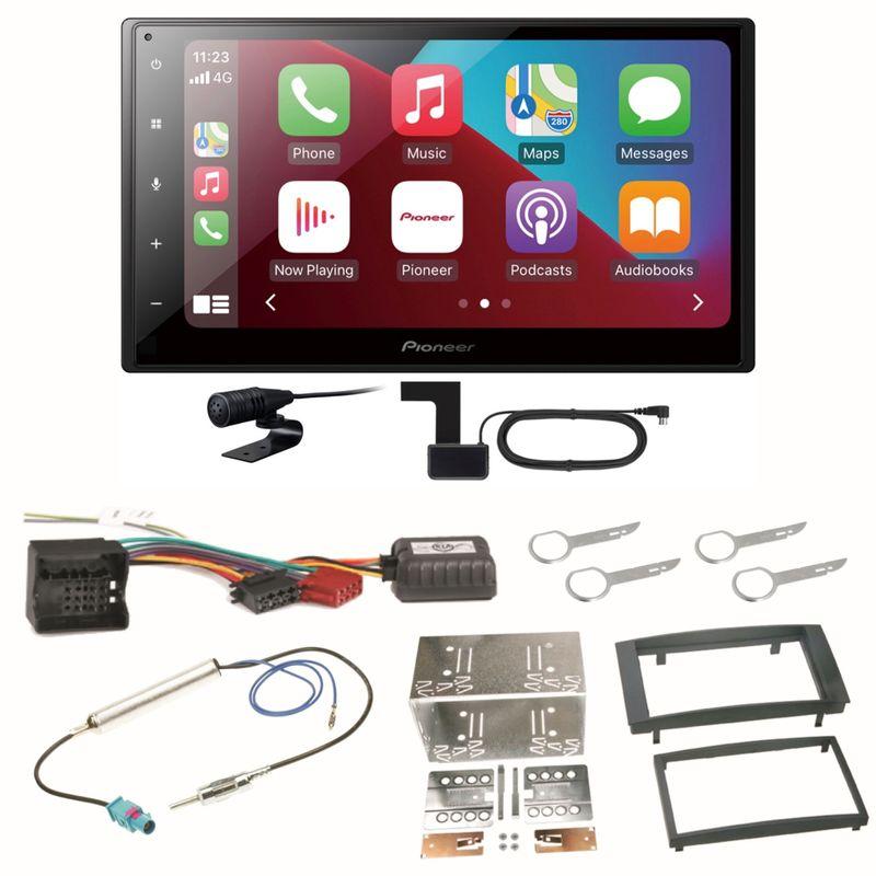 Pioneer SPH-DA160DAB Android Auto CarPlay Einbauset für T5 2003-2015 Multivan