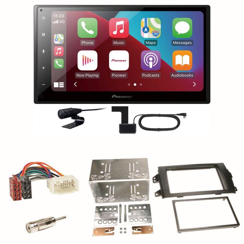 Pioneer SPH-DA160DAB Android Auto CarPlay Einbauset für Suzuki SX 4 Fiat Sedici
