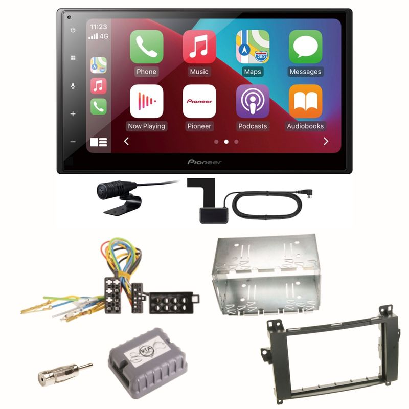 Pioneer SPH-DA160DAB Android Auto CarPlay Einbauset für Mercedes Vito Viano W639