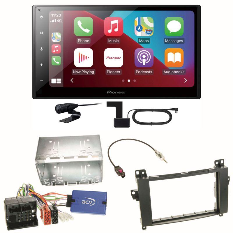 Pioneer SPH-DA160DAB Android Auto CarPlay Einbauset für Mercedes Viano Vito W639