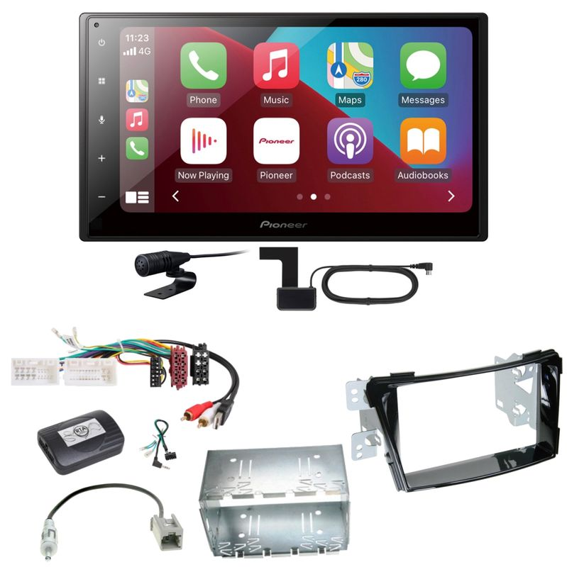 Pioneer SPH-DA160DAB Android Auto CarPlay Einbauset für Hyundai i40 VF