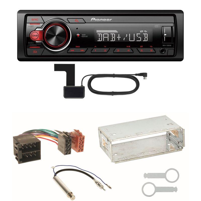 Pioneer MVH-130DAB Digitalradio USB Einbauset für Golf 4 Passat 3B Polo 6N 9N Lupo