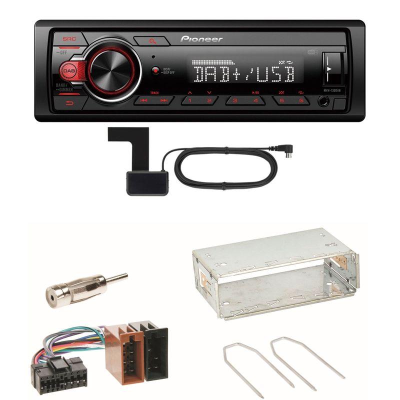 Pioneer MVH-130DAB Digitalradio USB Einbauset für Renault Clio 1 2 Twingo