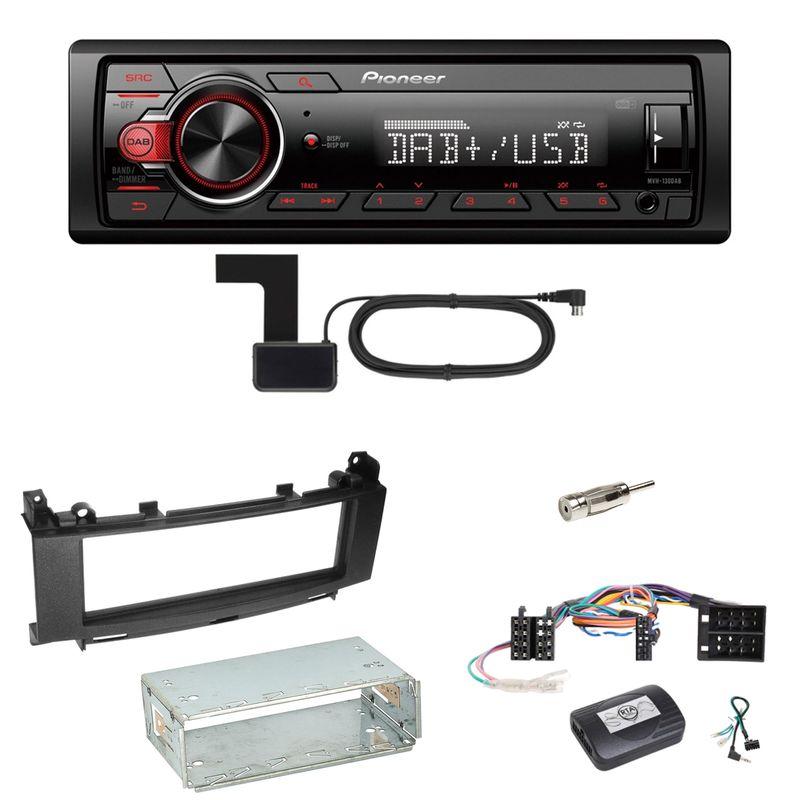 Pioneer MVH-130DAB Digitalradio USB Einbauset für Mercedes A B Klasse W169 W245
