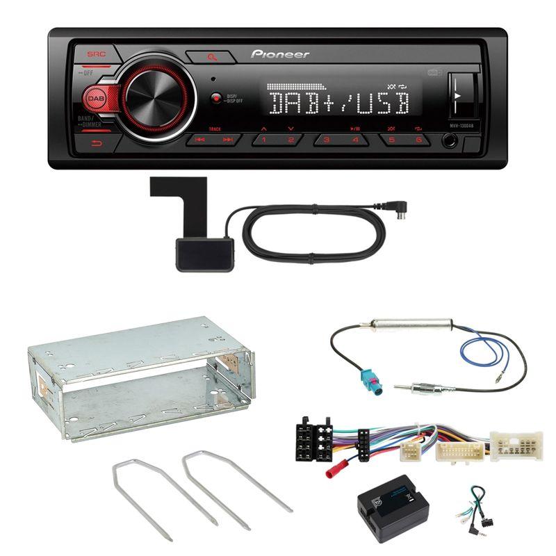 Pioneer MVH-130DAB Digitalradio USB Einbauset für Mercedes Citan W415