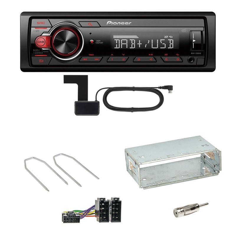 Pioneer MVH-130DAB Digitalradio USB Einbauset für Dacia Duster bis 2012