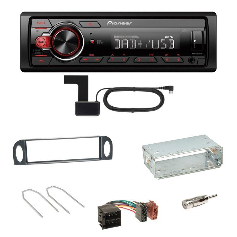 Pioneer MVH-130DAB Digitalradio USB Einbauset für Citroen C5 bis 07/2004
