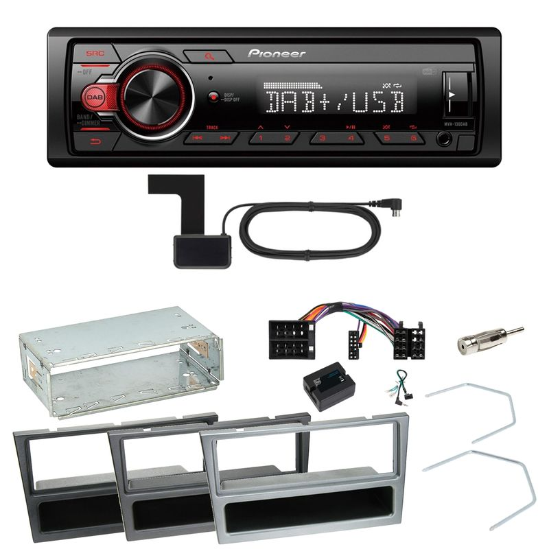 Pioneer MVH-130DAB Digitalradio USB Einbauset für Opel Vectra C Signum Corsa Combo